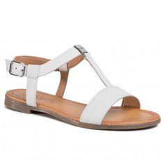 Szandál LASOCKI - OCE-ARENA-07 White - Hétköznapi szandálok - Szandálok - Papucsok és szandálok - Női | ecipo.hu Shoes, Fashion, Natural Leather, Flip Flops, Shoes Sandals, Women, Diary Book, Moda, Zapatos