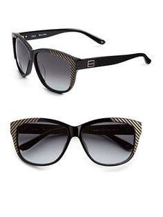 Angled stripe wayfarer sunglasses, Chloé
