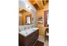Log Homes Bathrooms Log Home Bathrooms, Log Homes, Bathtub, Vanity, Timber Homes, Standing Bath, Dressing Tables, Powder Room, Log Cabin Bathrooms