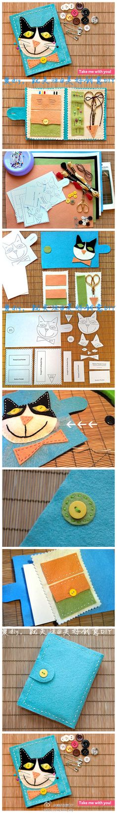 .kitty sewing case
