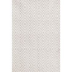 Dash and Albert Rugs Diamond Hand-Woven Gray/White Indoor/Outdoor Area Rug