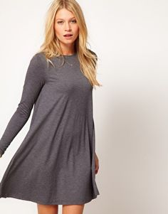 Cheap Sale Big Sale Grey Jersey Swing Dress - 6 / GREY I Saw It First Buy Cheap Amazon Cost Clearance Good Selling RgiIk5