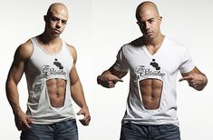 Camiseta para presumir de abdominales
