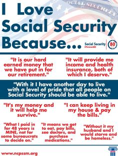 Yesterday, we asked you why you love ‪‎#SocialSecurity‬. We took some of the responses and made this graphic.