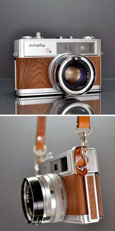 Minolta Hi-Matic 7 Mahogany Camera