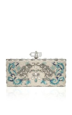 Marchesa Simonetta Embroidered Clutch with Elephant Motif at Moda Operandi