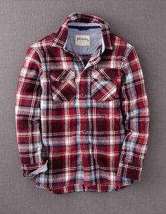 Classic flannel. If you want to go lumberjack, this is a good way to go.