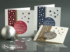 My Christmas cards you see behind door 14 ~ Stamp Club | Tinkering with Stampin 'Up! - Online shop