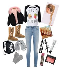 """School day abrigador"" by rola-cat on Polyvore featuring UGG Australia, Givenchy, NIKE, Vero Moda, L.K.Bennett, NARS Cosmetics and Burt's Bees"
