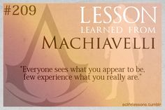 Assassin's Creed Life Lessons from Machiavelli