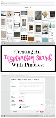Creating an inspiration board is a must when you're planning a space and Pinterest is one of the easiest ways to do that. Here's a totally helpful post that tells you how to use Pinterest to create an inspiration board for your space. You're definitely going to want to save this post for your next home project.