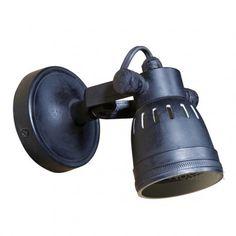 Industriele Vintage Indigo-Cover Wandlamp
