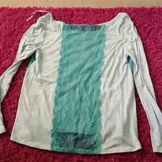 American eagle outfitters top Long sleeve top with lace on sides and down back back is little longer than front American Eagle Outfitters Tops Tees - Long Sleeve
