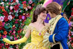 Belle and the Beast transformed! So sweet and pretty!