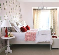 A wallpaper feature wall would be perfect behind my wrought-iron bed.