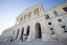 Exterior of Palacio de Sao Bento (Portuguese Parliament), Sao Bento, Lisboa, Portugal