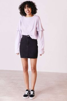 Truly Madly Deeply Kimberly Ruffle Long-Sleeve Thermal Tee - Urban Outfitters