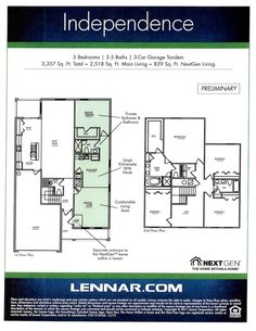 Love this floor plan from Lennar Homes Next time we buy a house