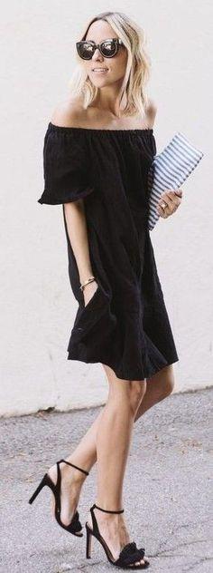 #summer #popular #outfitideas Off The Shoulder Little Black Dress