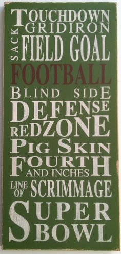 Hey, I found this really awesome Etsy listing at http://www.etsy.com/listing/119796403/football-typography-word-art-in-white