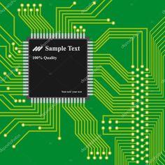 Descargar - Vector - fondo de alta tecnología, circuitos de computadora — Ilustración de Stock #7367657