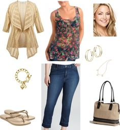 Cropped Jeans and Floral Top kentuckyfashion on Polyvore