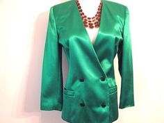 VINTAGE SK & CO Jacket Coat Blazer Size Petite Small 2 4 Fully Lined