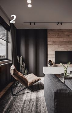 Design and visualization of the living room and bedroom in an apartment in Kazan Living Room Tv Unit, Home Living Room, Living Room Designs, Living Room Decor, Apartment Interior, Apartment Design, Room Interior, Home Interior Design, House Design