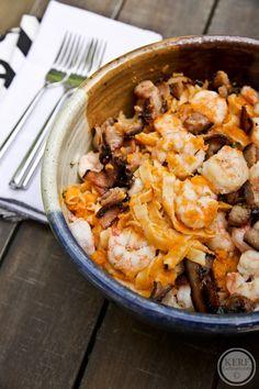 Shrimp Pasta With Butternut Squash Sauce