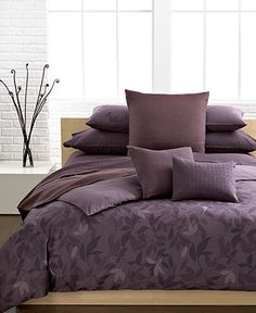 Calvin Klein Bedding, Elm Comforter and Duvet Cover Sets - Bedding Collections - Bed & Bath - Macy's Bridal and Wedding Registry King Size Comforter Sets, King Size Comforters, King Duvet Cover Sets, Duvet Sets, Duvet Covers, Comforter Cover, Calvin Klein, Lilac Bedding, Neutral Bedding