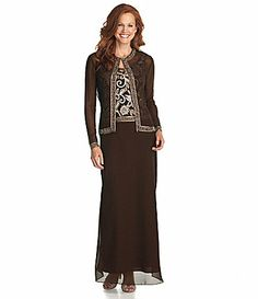Jkara Woman Beaded Jacket Dress #Dillards  (size 24, $260)