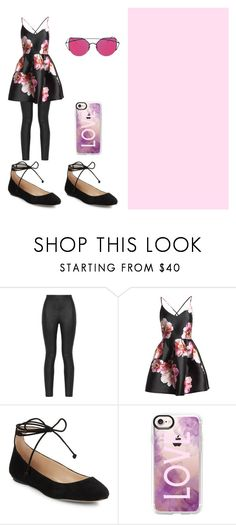"""""""Satin Roses"""" by pentatonixptx on Polyvore featuring Armani Jeans, Sans Souci, Karl Lagerfeld and Casetify"""