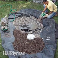 How to Build a Low-Maintenance Water Feature - Step by Step...pet safe with the rocks, no pond to fall in.