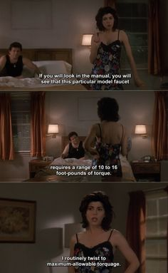 The hottest argument—you go girl, use your brain for some fun ball busting. My Cousin Vinny