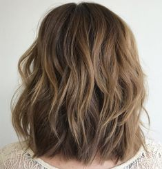 Layered Lob For Thick Hair