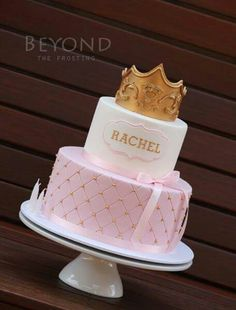 Miss Rachel turned 3 last week and she celebrated with a Princess themed birthday party on the weekend. Birthday Cake Girls Teenager, My Birthday Cake, Princess Birthday, Baby Birthday, Princess Party, Princess Crown Cake, Bolo Minion, Sleeping Beauty Cake, Girl Baby Shower Decorations