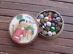 Dollhouse Miniature Christmas Box of Chocolates Victorian Children 12th Scale