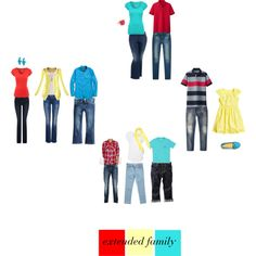 Picture Day Outfit Ideas | M family inspiration. Red, pale yellow, teal, white. Two colors for each girl to keep it diverse but coordinated.