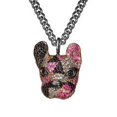 Jewelry Art, Fine Jewelry, Jewellery, Pink Sapphire, Black Diamond, Dog Tag Necklace, 925 Silver, Pendant, Schmuck