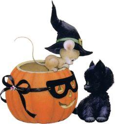 ruth morehead graphics | souris dans une citrouille avec un chat 40