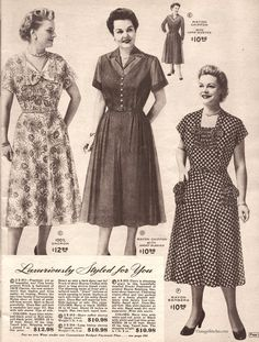 Spring and Summer 1955 Lane Bryant | VintageStitches.com
