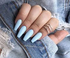 Pastel Pink Nails, Blue Acrylic Nails, Yellow Nails, Purple Nails, Colorful Nails, Pastel Blue, Edgy Nails, Grunge Nails, Classy Nails