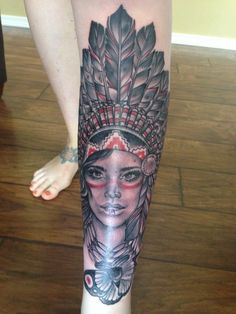 Seattle Tattoo Expo 2013. My shin tattoo by Whitney Fromm. Paradox Tattoo Gallery; Bonney Lake, WA