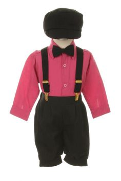 300b6156dac Amazon.com  Vintage Dress Suit-Tuxedo Knickers Outfit Set Baby Boys  amp