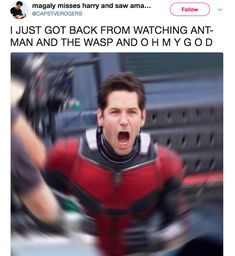 """Ant-Man and the Wasp gave me lots of giggles and happiness, and then stomped on my feelings."" Warning: Contains spoilers!"