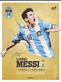 Messi, Stars World Cup 2014 Lionel Messi, God Of Football, Football Art, Soccer Art, Soccer Poster, World Cup 2014, Fifa World Cup, Argentina National Team, Messi Soccer