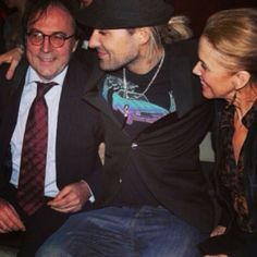 David Garrett and his parents.