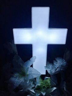 Lighted Cross Decor Large 2 X4 Outdoor Christmas Lights