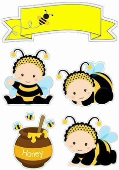 Baby Crafts, Diy And Crafts, Paper Crafts, Brother Innovis, Baby Clip Art, Bee Party, Cute Bee, Bee Theme, Animal Projects