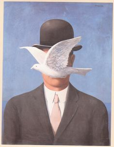 """Two Lovers Kissing 8.5x11/"""" Photo Print Rene Magritte Faceless Love Surrealist"""
